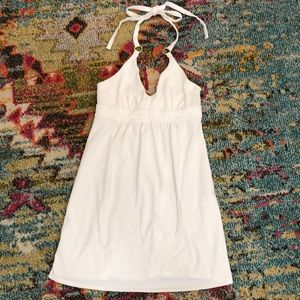 Victoria's Secret Bra Top White Halter Mini Dress
